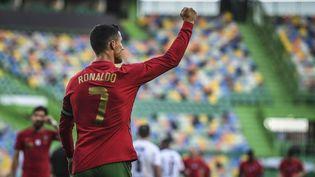 Cristiano Ronaldo a ouvert le score face à l'Allemagne. (PATRICIA DE MELO MOREIRA / AFP)