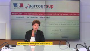 Frédérique Vidal, ministre de l'Enseignement supérieur, de la Recherche et de l'Innovation, le 14 septembre 2018. (RADIO FRANCE / FRANCEINFO)