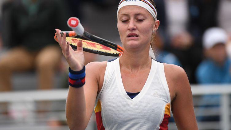 La déception de Kristina Mladenovic  (EDUARDO MUNOZ ALVAREZ / AFP)