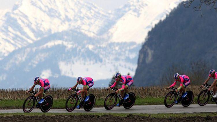 La formation Lampre (PIERRE TEYSSOT / AFP)