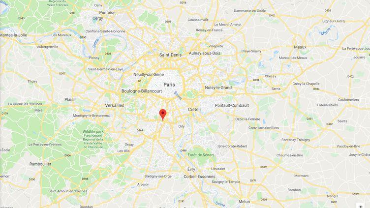 Capture d'écran de Googlemaps pointant la ville de Fresnes (Val-de-Marne), où un hommeimmolé par le feu a été retrouvé mort en pleine rue. (GOOGLEMAPS)