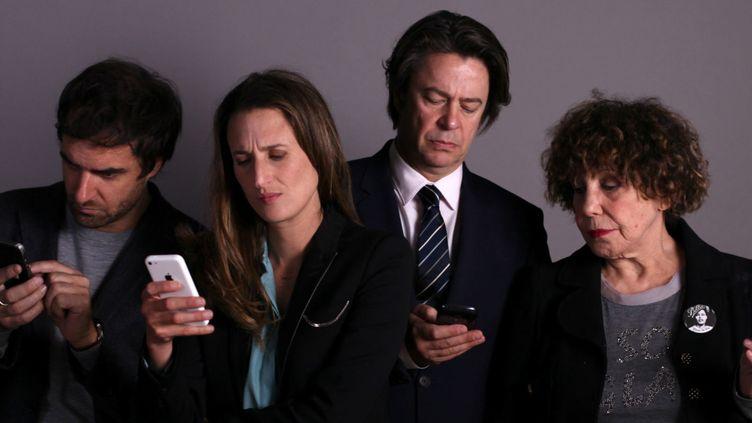 """Les quatre principaux agents d'acteurs de la série """"Dix pour Cent"""" sont joués parGrégory Montel, Camille Cottin, Thibault de Montalembert et Liliane Rovère.  (Mon Voisin Production Ce qui Me Meut)"""