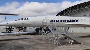 Le Concorde exposé aux visiteurs au musée Aéroscopia, le 28 février 2019. (STÉPHANE IGLÉSIS / FRANCE-INTER)