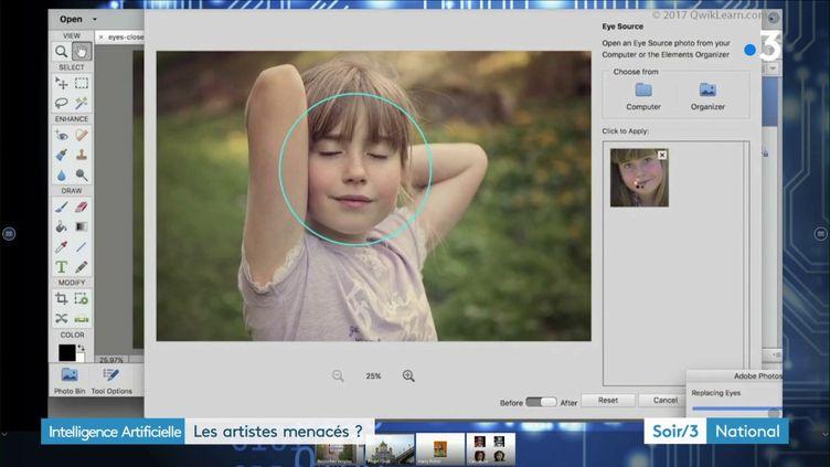 Une photo retouchée (France 3)