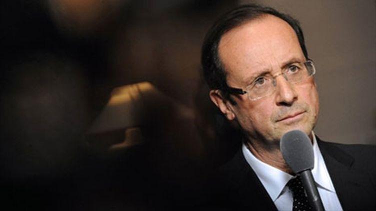 François Hollande, candidat à la primaire socialiste. (AFP PHOTO JEAN-PIERRE MULLER)