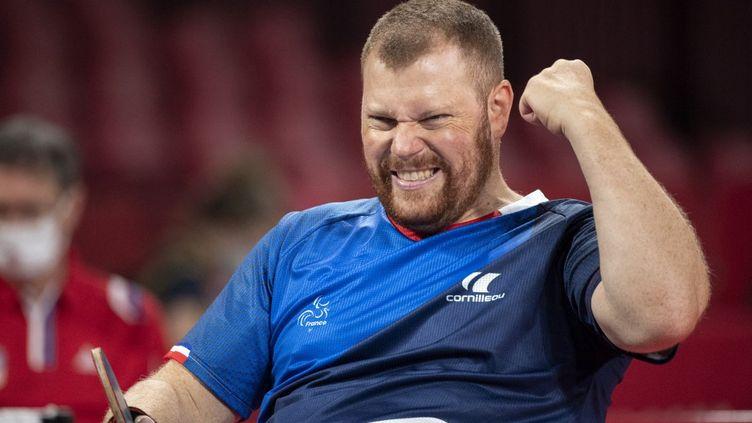 Fabien Lamirault est le quatrième champion paralympique français à Tokyo. (CHARLY TRIBALLEAU / AFP)