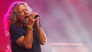 Robert Plant, l'un des géants du rock, toujours maître du micro. Ici en juin 2015.  (Wade Payne/AP/SIPA)