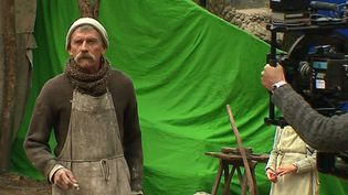 Le comédien Jacques Gamblin incarne le Facteur Cheval dans le film réalisé par Nils Tavernier  (France 3 / Culturebox )