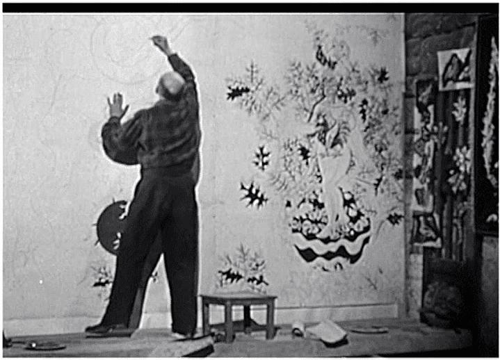 Lurçat dans son atelier  (France 3 / Culturebox / capture d'écran)