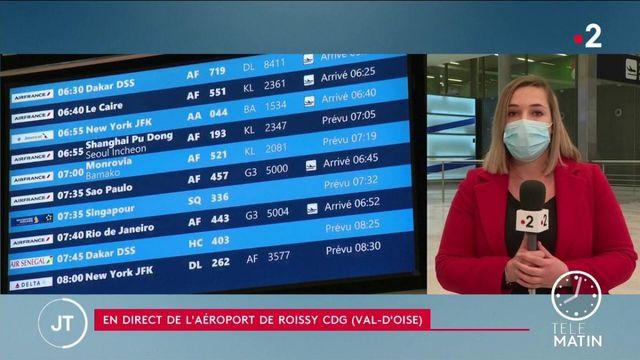 Covid-19: les derniers passagers provenant du Brésil sont arrivés à l'aéroport de Roissy