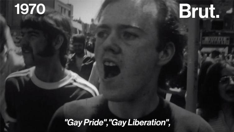 Le 27 juin 1969, les émeutes de Stonewall marquent le début de la lutte de la communauté LGBT. Brut a rencontré Fred Sargeant, un acteur de l'événement. (BRUT)