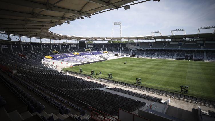 Toulouse accueille Dunkerque dans son Stadium pour la reprise de la Ligue 2 (LIONEL BONAVENTURE / AFP)