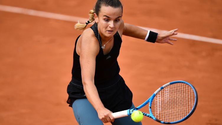 Clara Burel au deuxième tour de Roland-Garros 2020. (ANNE-CHRISTINE POUJOULAT / AFP)