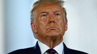 Donald Trump officiellement investi par le parti républicain américain pour concourir à un second mandat présidentiel, le 27 août 2020. (BRENDAN SMIALOWSKI / AFP)