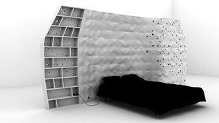 """La chambre de """"Habitat Imprimé"""" de François Brument, Carte Blanche au VIA 2013  (In-Flexions)"""