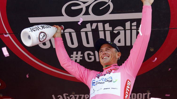 Simon Gerrans, nouveau leader du Giro (LUK BENIES / AFP)