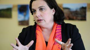 La secrétaire nationale d'EELV, Emmanuelle Cosse, lors d'une conférence de presse le 18 mars 2015, à Toulouse (Haute-Garonne). (REMY GABALDA / AFP)