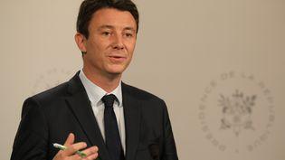 Benjamin griveaux, le porte-parole du gouvernement, à la sortie du conseil des ministres, le 19 décembre 2018. (LUDOVIC MARIN / AFP)