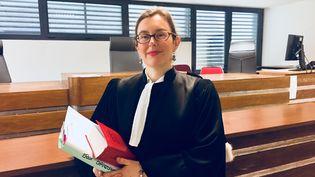 Viviane Brethenoux, vice-présidente du tribunal d'instance de Boulogne-Billancourt, dans les Hauts-de-Seine, en avril 2018. (MATTHIEU MONDOLONI / FRANCEINFO)