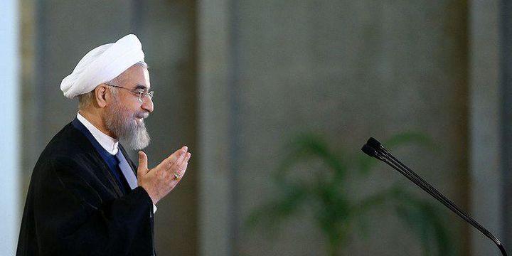 «Dieu a exaucé les prières. Tous nos objectifs ont été atteints» a dit le président iranien Hassan Rohani le 14 juillet 2015, en réaction à l'accord sur le nucléaire. (AFP PHOTO/HO/Iranian presidency)