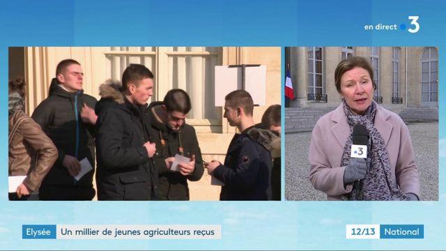 Élysée : un millier d'agriculteurs reçus par Emmanuel Macron
