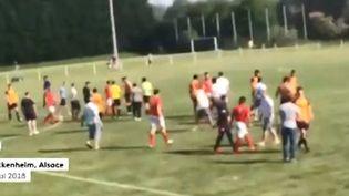 Des violences lors d'un match de foot à Mackenheim (Bas-Rhin) (FRANCEINFO)