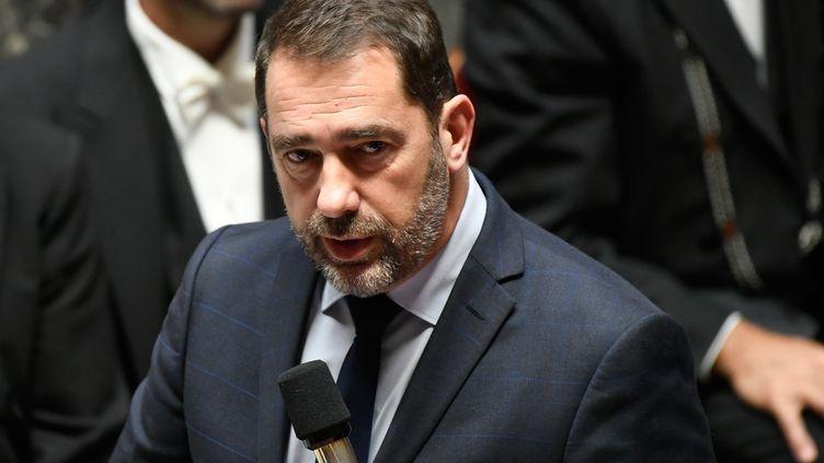 Le ministre de l'Intérieur, Christophe Castaner, lors des questions au gouvernement à l'Assemblée nationale, le 6 novembre 2018. (LIONEL BONAVENTURE / AFP)