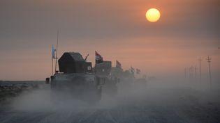 Les forces irakiennes se préparent àla bataille de Mossoul le 10 octobre 2016. (MAHMOUD AL-SAMARRAI / AFP)