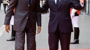 Le président français Emmanuel Macron reçoit son homologue rwandais, Paul Kagame, lundi 17mai à Paris, en marge d'une conférence sur le Soudan et à la veille d'un sommet sur le financement des économies africaines. (LUDOVIC MARIN / AFP)