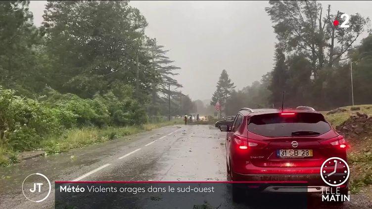 Des orages dans le sud-ouest. (France 2)