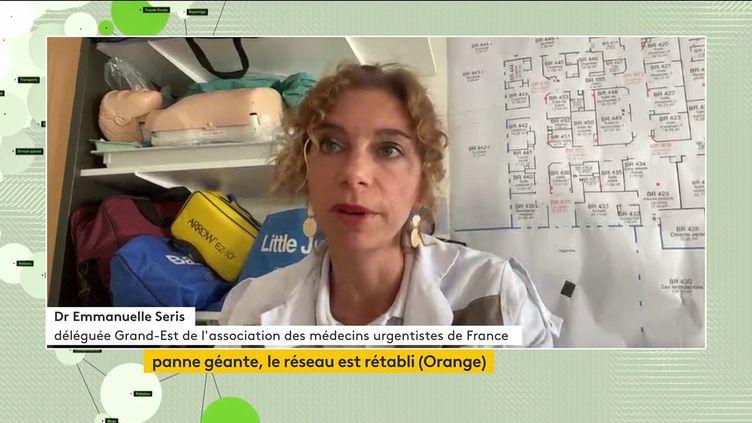 Emmanuelle Seris, déléguée générale de l'association des médecins urgentistes de France était, jeudi 1 er juin, l'invitée du journal télévisé de la chaine franceinfo (FRANCEINFO)
