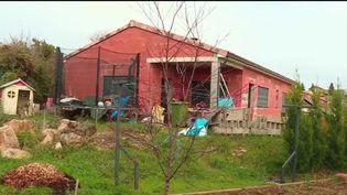 Le domicile deDelphine Aussaguel, disparue dans la nuit du 15 au 16 décembre àCagnac-Les-Mines (Tarn). (CAPTURE ECRAN FRANCE 2)