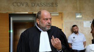 Un avocat de WojciechJanowski, Eric Dupond-Moretti, s'exprime en marge du procès de son client, le 17 septembre 2018, au tribunal d'Aix-en-Provence (Bouches-du-Rhône). (MAXPPP)