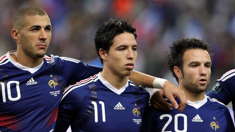 Karim Benzema, Samir Nasri et Mathieu Valbuena se sont côtoyés en équipe de France. (JEAN-BAPTISTE QUENTIN / TEAMSHOOT TEAMSHOOT)