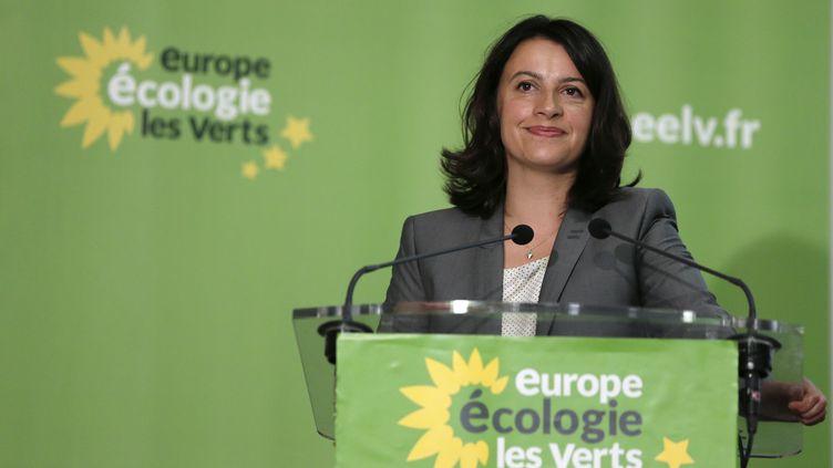 La ministre du Logement, Cécile Duflot, lors du conseil fédéral d'Europe Ecologie-Les Verts, dimanche 23 septembre. (KENZO TRIBOUILLARD / AFP)
