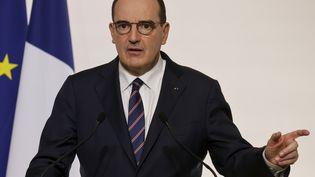 Le Premier ministre Jean Castex lors de la conférence de presse du 7 janvier 2021 (LUDOVIC MARIN / AFP)
