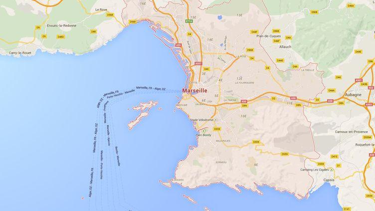Une carte de Marseille (Bouches-du-Rhône). ( GOOGLE MAPS)