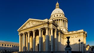 Le président de la République prononcera un discours pour l'entrée au Panthéon deGermaine Tillion, Geneviève de Gaulle-Anthonioz, Pierre Brossolette et Jean Zay, le 27 mai 2015. (ARNAUD FRICH / ONLY FRANCE / AFP)
