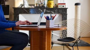 Un salarié travaillant de son domicile. Photo d'illustration. (PIERRICK DELOBELLE / MAXPPP)
