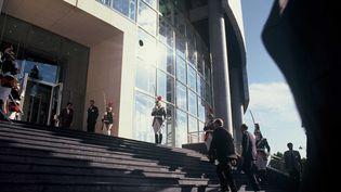 Le président François Mitterrand arrive à l'Opéra Bastille pour son inauguration, Paris le 13 juillet 1989 (LE SEGRETAIN/SIPA)