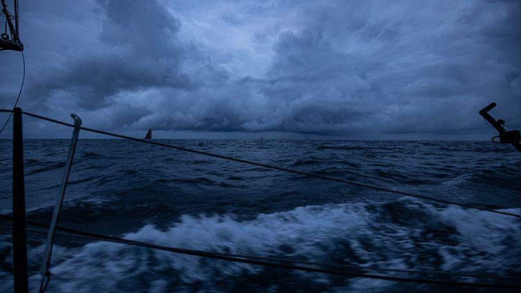 Vue du bateau de Thomas Ruyant. (THOMAS RUYANT / LINKEDOUT)