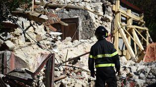 Un tremblement de terre a détruit en partie la commune italienne de San Pellegrino, le 1er novembre 2016. (FILIPPO MONTEFORTE / AFP)