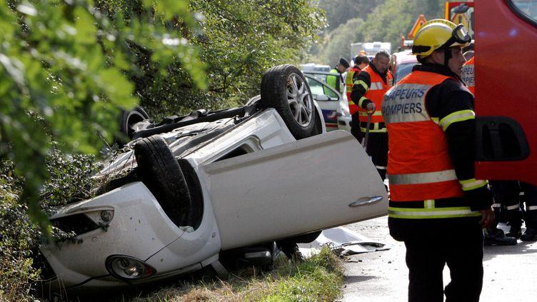 Un accident de la circulation le 14 mai 2014, àThionville (Moselle). (  MAXPPP)