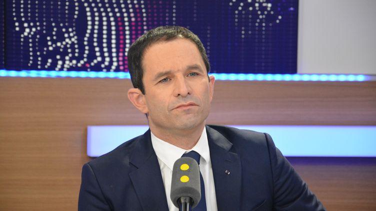 Benoit Hamon,candidat à l'élection présidentielle pour le PS. (RADIO FRANCE / JEAN-CHRISTOPHE BOURDILLAT)