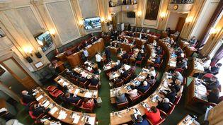 La séance d'installation du conseil départemental du Nord, à Lille, le 1er juillet 2021. (MAXPPP)
