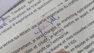 En matière d'embauche, les employeurs sont de plus en plus sensibles à la bonne maîtrise du français. Une mauvaise maîtrise de la langue française serait rédhibitoire pour 73% des recruteurs. (CAPTURE ECRAN FRANCE 3)