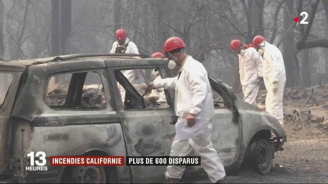 Incendies en Californie : plus de 600 disparus