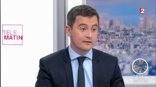 """Gérarld Darmanin,ministre de l'Action et des comptes publics, lors des """"4 Vérités"""" sur France 2,le 1er juin 2017. (FRANCE 2)"""