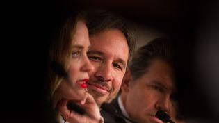 Denis Villeneuve entouré d'Emily Blunt et de Benicio Del Toro  (GUILLAUME COLLET/SIPA)