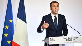 Olivier Véran, le 27 août 2020. (CHRISTOPHE ARCHAMBAULT / AFP)